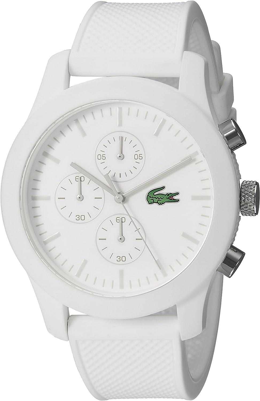 Lacoste Men s 2010823 12.12 Analog Display Quartz White Watch