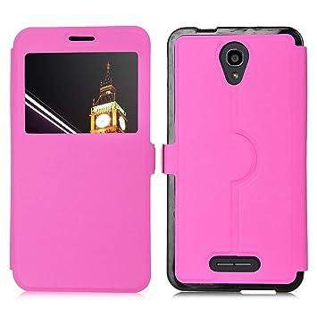 official photos 3ae35 5c3ad ELTD Alcatel Pop 4 Plus Case, Flip Premium Case Cover for Alcatel ...