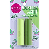 eos Moisture Hit Lip Balm - Happy Brownie and Happy Herb   Soothing Hemp Seed Oil   Lip Care to Moisturize Dry Lips   Gluten
