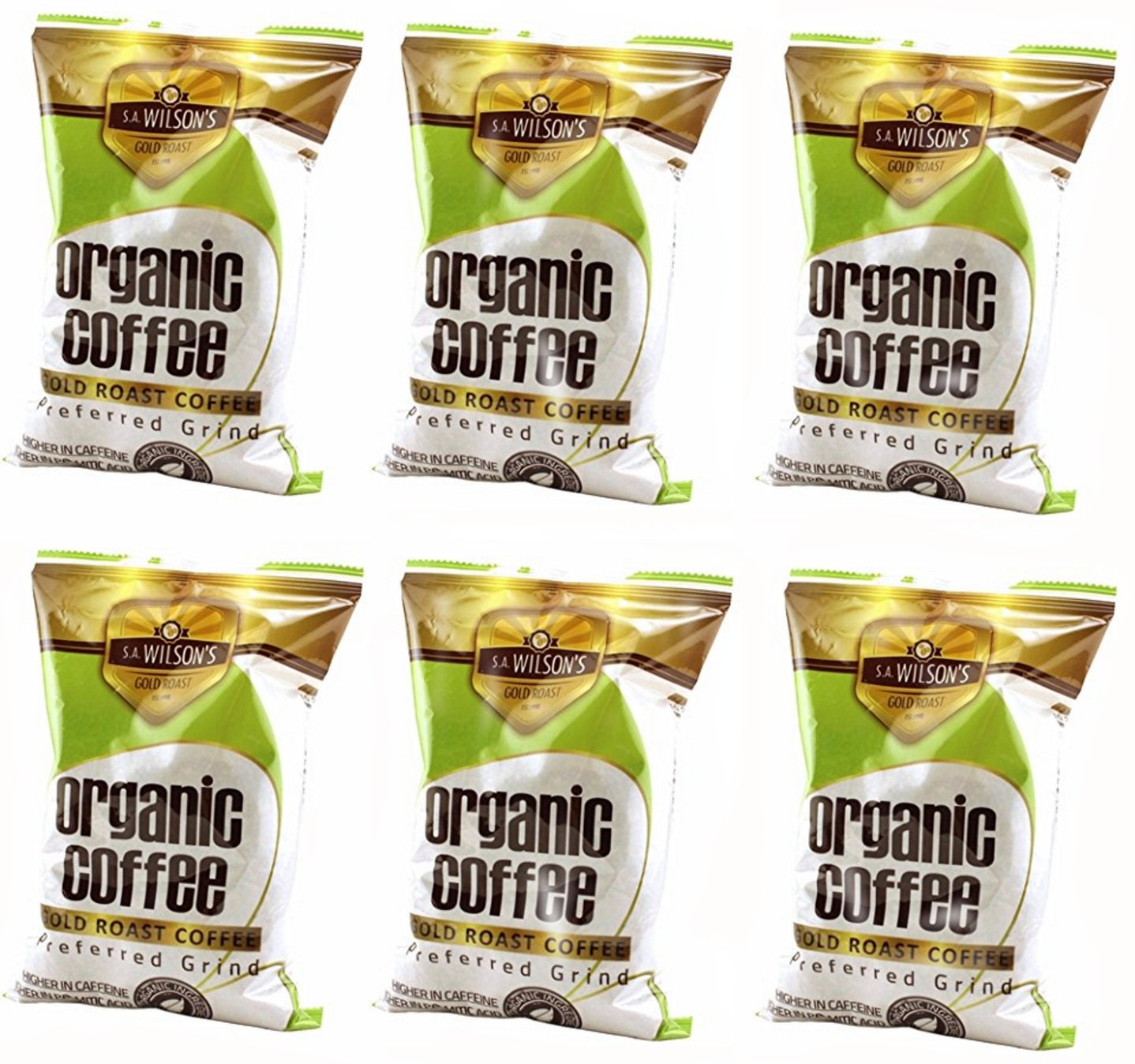Organic Enema Coffee - One Pound - by S.A. Wilson - Pack of 6