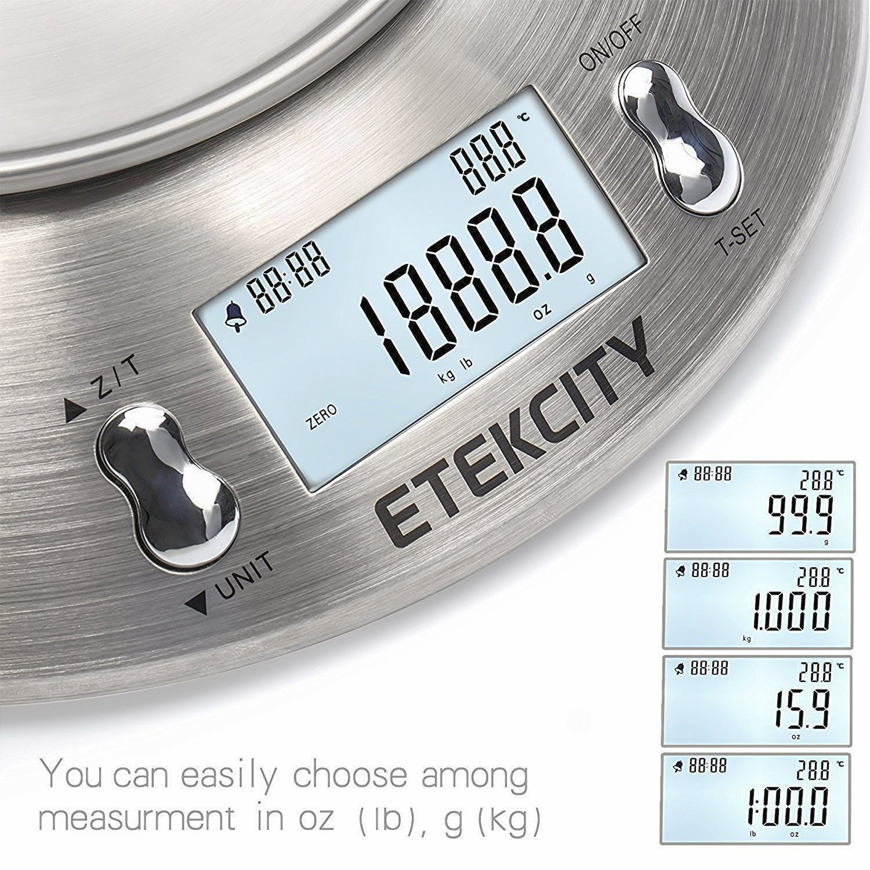 etekcity bilancia da cucina elettronica in acciaio inossidabile  ONLINE SHOPPING (PURCHASES ONLINE): Etekcity Bilancia da Cucina ...