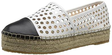 Loeffler Randall Women's Mariko Platform Sandal, White/Black, ...