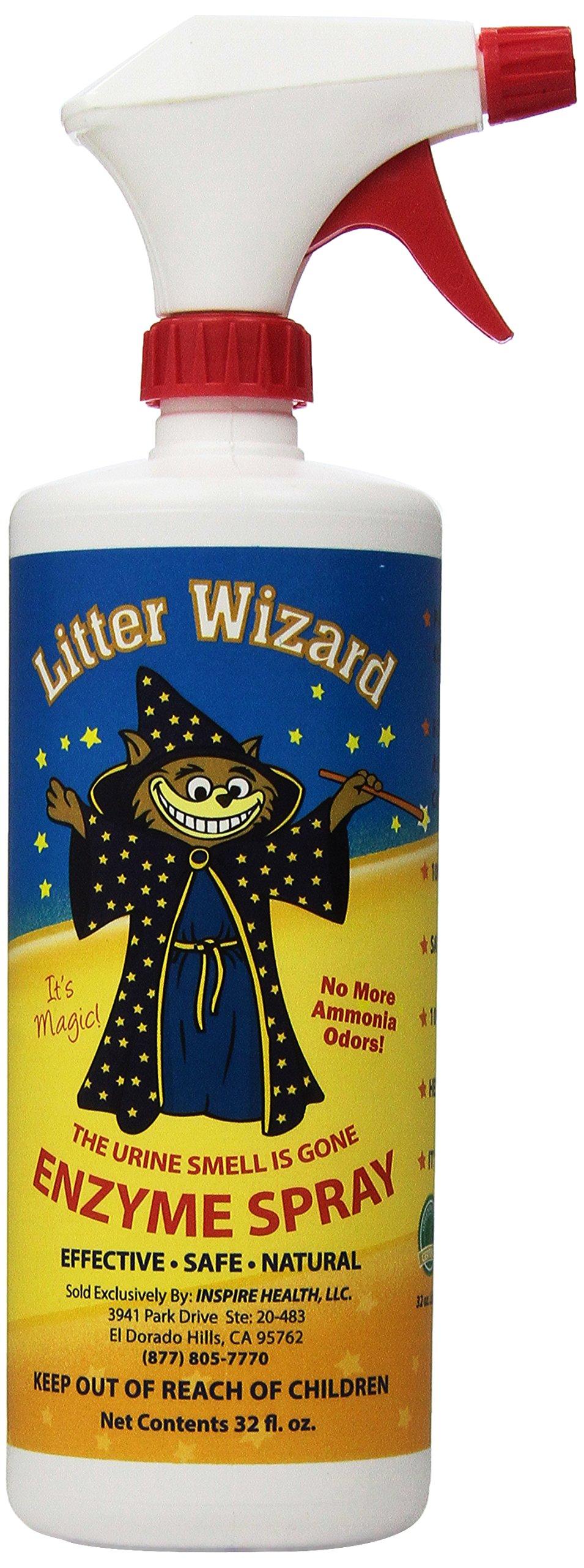 Litter Wizard System Cat Litter Box Deodorizer Spray, 32 Fluid Ounce