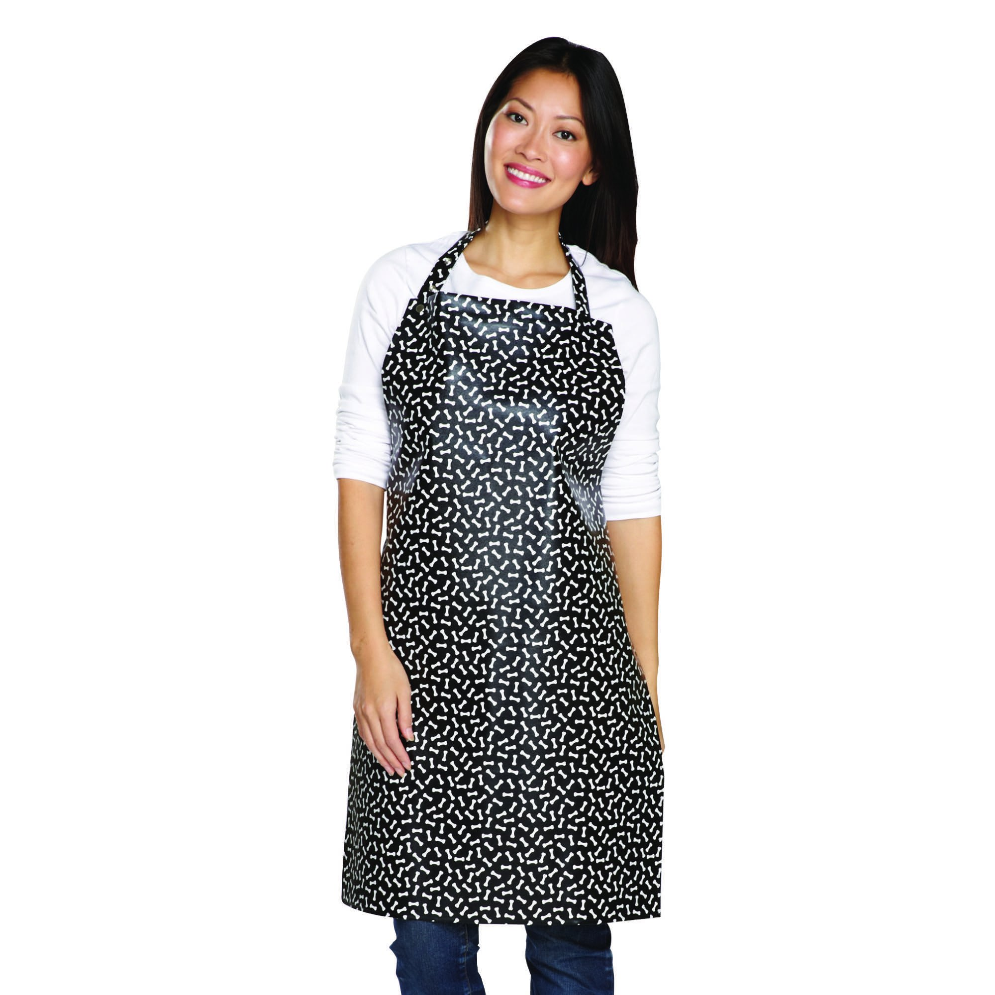 Top Performance Waterproof Aprons — Stain-Resistant PVC Aprons for Professional Groomers, Black