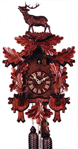 German Cuckoo Clock 8-day-movement Carved-Style 21.70 inch – Authentic black forest cuckoo clock by Rombach Haas
