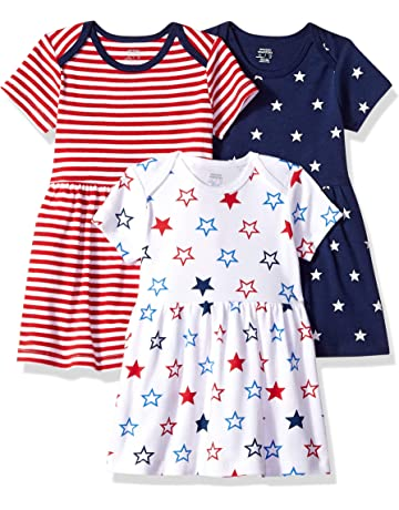 30a2f268e3 Amazon Essentials Baby Girls 3-Pack Dress