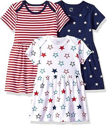 Amazon Essentials - Pack de 3 vestidos para niñas: Amazon.es: Ropa y accesorios