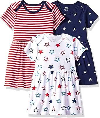 Essentials Baby Girls 3-Pack Dress Americana 40 cm Preemie