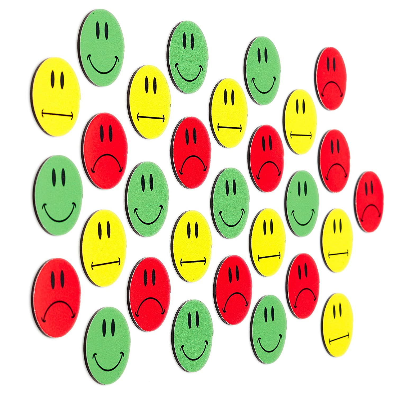 30 Multicolor Smiley Imanes (10 gruene Smileys sonriendo/10 ...