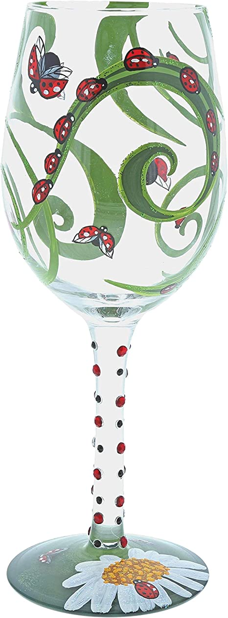Enesco Designs by Lolita Day of the Dead Copa Artisan Cocktail Glass 24 Ounce Multicolor