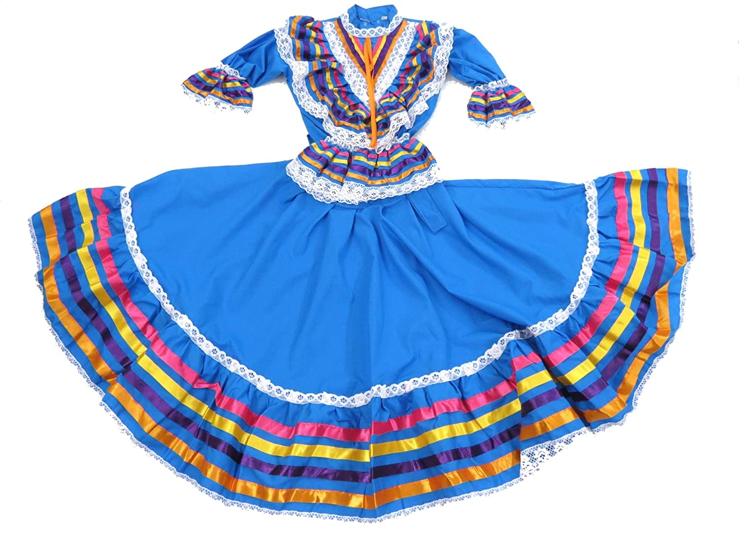 8bf5f8667b Amazon.com  Ethnic Identity Girls Mexican Dress Vestido Jalisco  Clothing