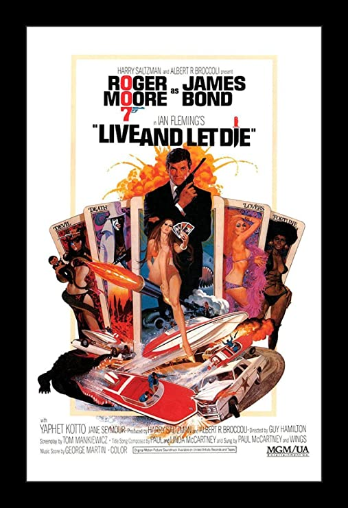 James Bond Poster////Vintage James Bond Movie Poster////Live and Let Die Movie Poste