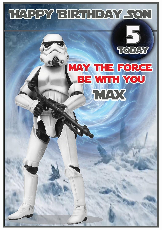 Personalised star wars inspired stormtrooper birthday card amazon personalised star wars inspired stormtrooper birthday card amazon office products bookmarktalkfo Images