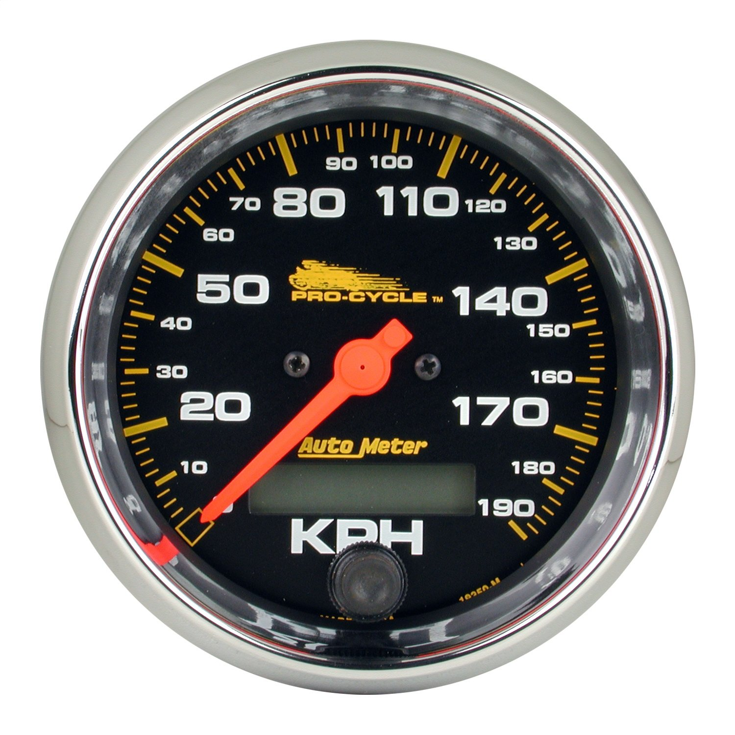 Pro-Cycle 3 3//4 Black 120 Mph Elec 3 3//4 Auto Meter AutoMeter 19350 Gauge Speedo
