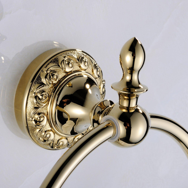 Weare Home Handtuchring Badzubeh/ör Modern Ti-PVD Finish Messing Antik Material Badzimmer Accessories