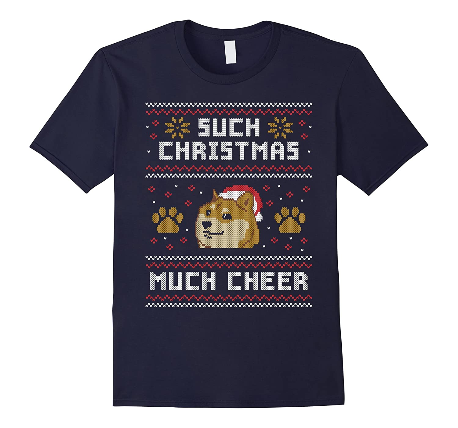 Shiba Inu Dog T-Shirt - Such Christmas Much Cheer Gift-Art