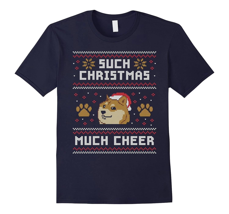 Shiba Inu Dog T-Shirt - Such Christmas Much Cheer Gift-Art