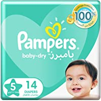 Pampers Baby-Dry Diapers, Size 5, Junior, 11-16kg, 14 Count