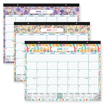 Desk Calendar 2019-2020: Large Monthly Pages - 17