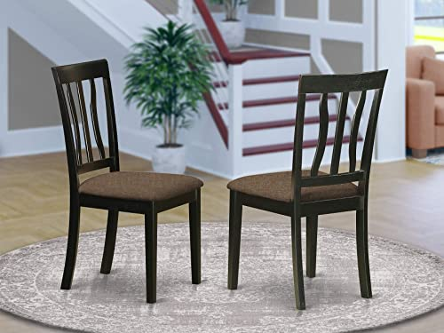 East West Furniture Antique Mid-Century Dining Chairs