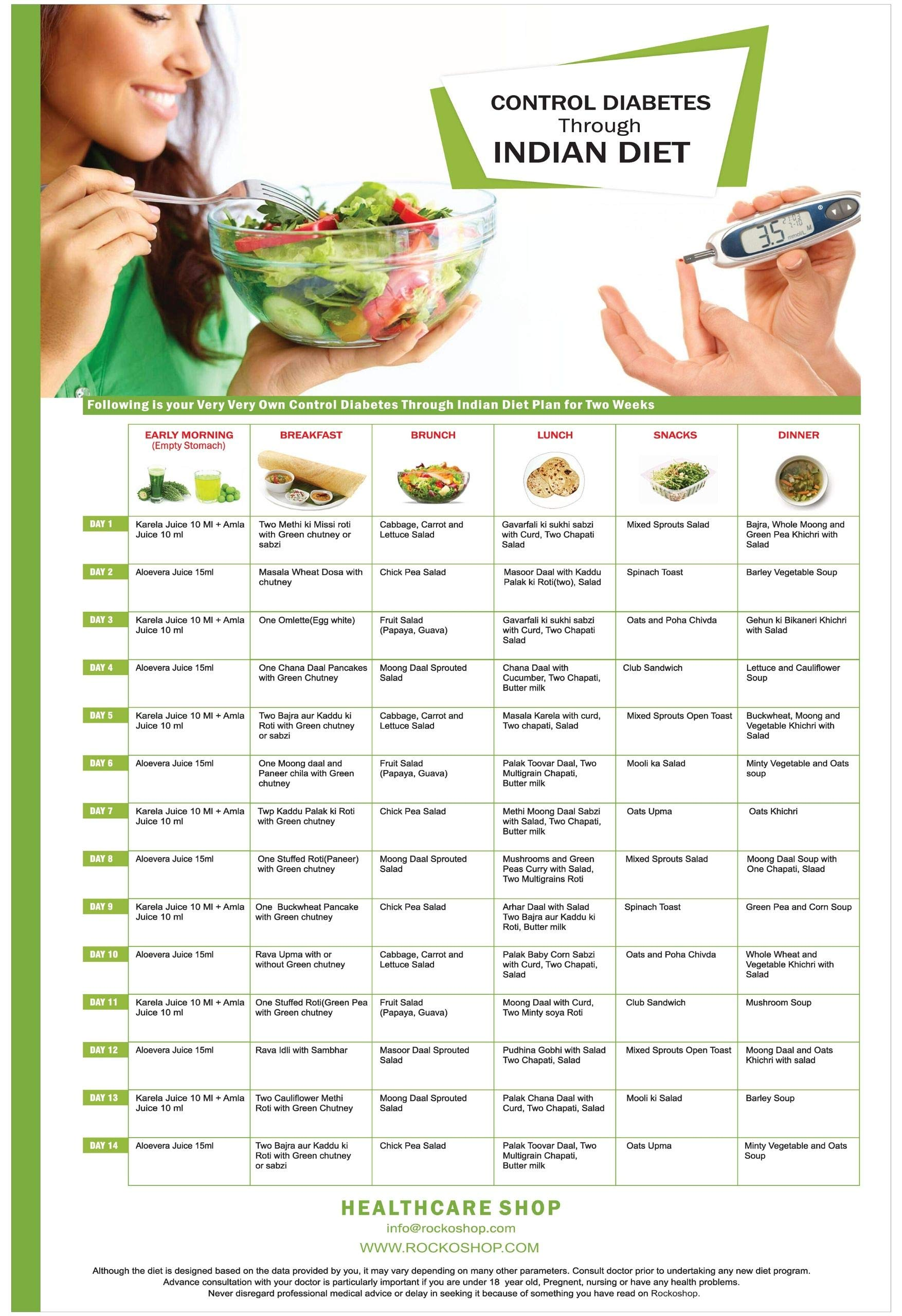 Buy Diabetic Diet Chart Control Diabetes With Healthy Diet Plan