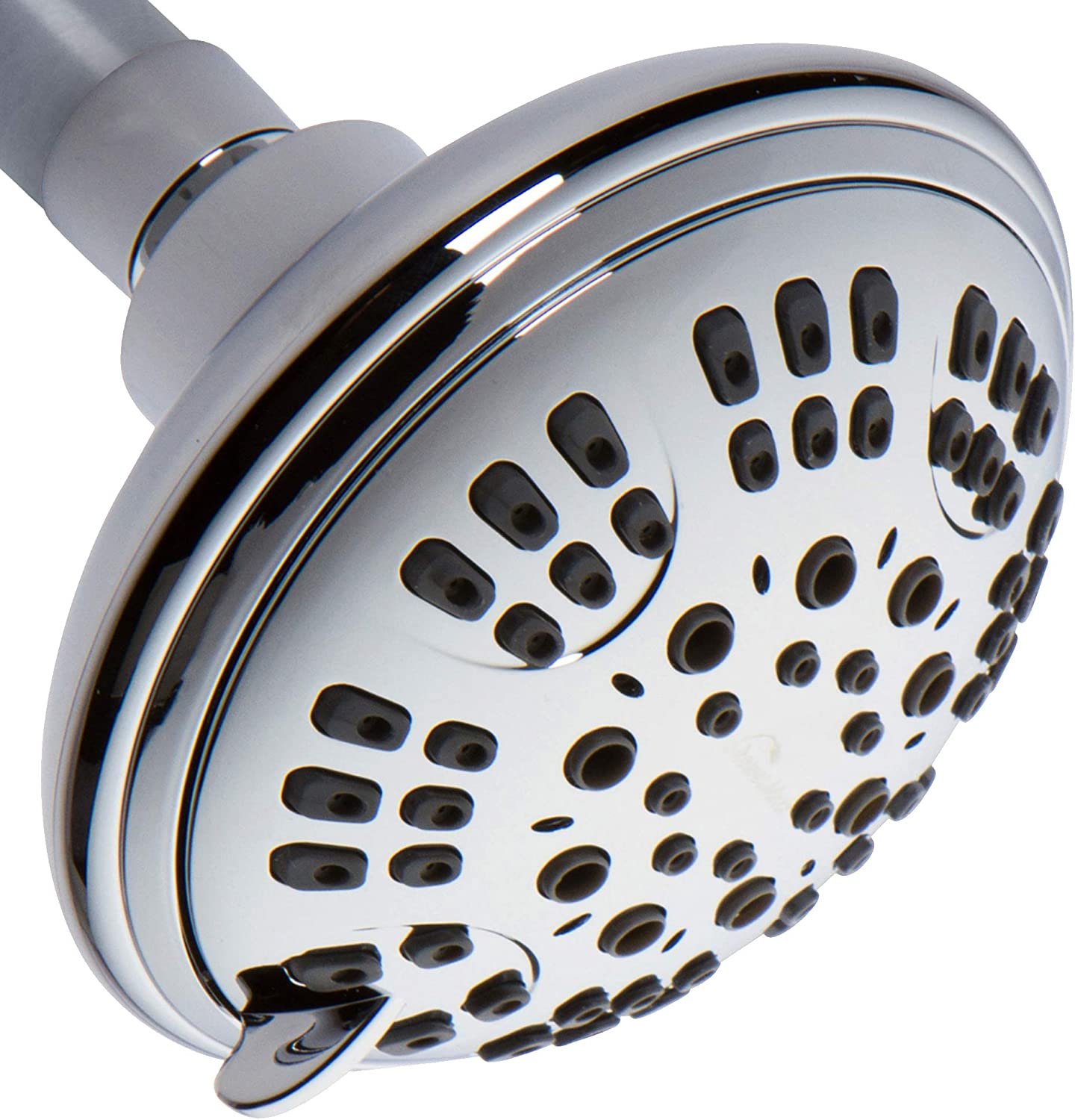 ShowerMaxx, Luxury Spa Series, 6 Spray Settings 4.5 inch Adjustable High Pressure Shower Head, MAXX-imize Your Shower with Easy-to-Remove Flow Restrictor Showerhead, Polished Chrome Finish