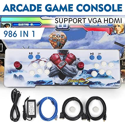 Happybuy Video Game Console, Arcade Machine Over 1500 Latest Classic Games, 2 Players Pandoras Box 9S Multiplayer Home Arcade Console Games All in 1 ...