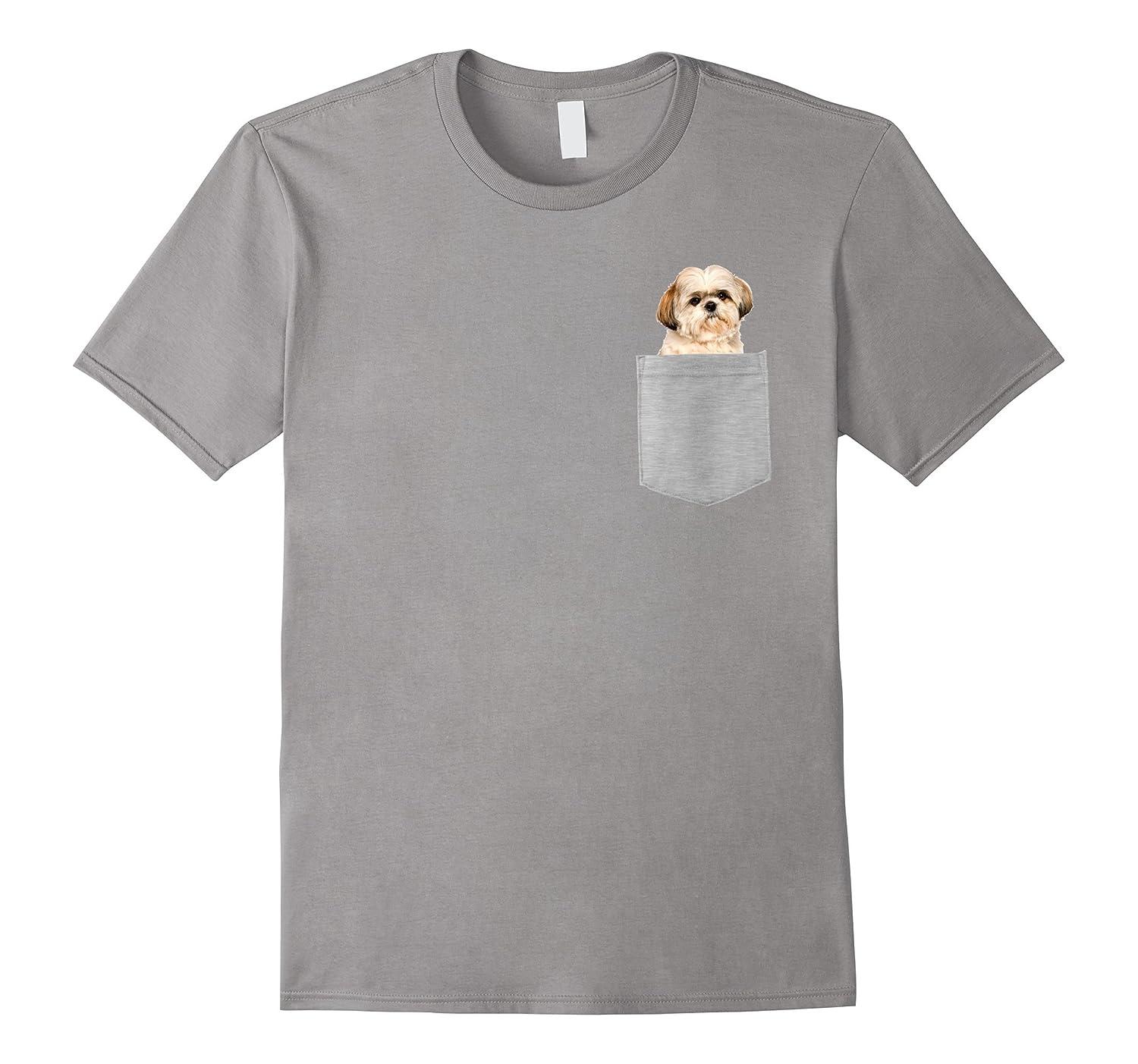 Dog in Your Pocket Shih Tzu t shirt tee shirt-Art