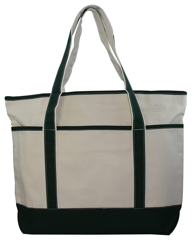800c81d4f64 Large Canvas Zippered Tote Bag: Handbags: Amazon.com