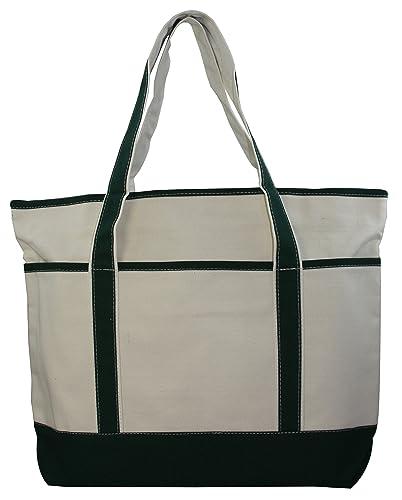 531fc4039 Large Canvas Zippered Tote Bag: Handbags: Amazon.com