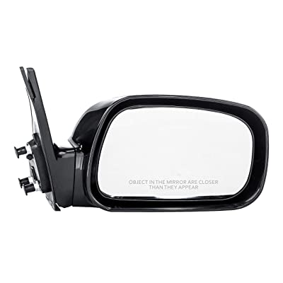 Dependable Direct Right Passenger Side Unpainted Power Operated Non-Heated Non-Folding Door Mirror for USA Built Toyota Camry (2002 2003 2004 2005 2006) - TO1321167: Automotive