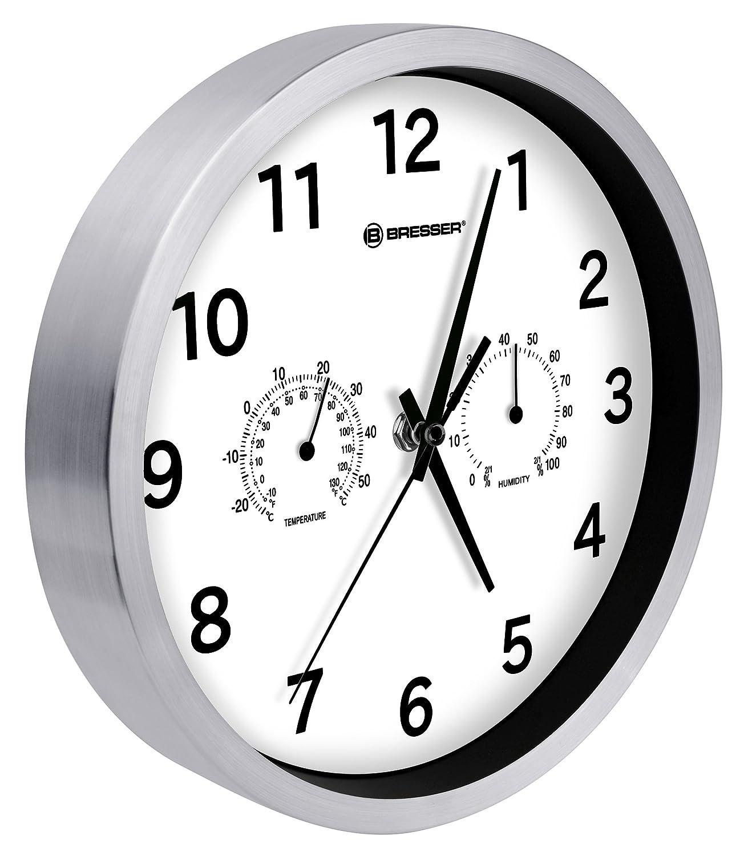 Bresser Mytime Quartz Thermo-/ Hygro- Wall Clock, White 8020311GYE000