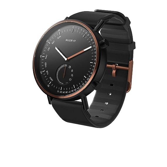 Misfit Reloj Analógico para Unisex Adultos de Cuarzo con Correa en Silicona MIS5019: Amazon.es: Relojes