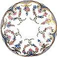 Rockingham Painted Enamel Plate Teller, Rose, ghirlande, Smalto, dipinto a mano