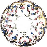 Rockingham Painted Enamel Plate Plato de Rosas, guirnaldas