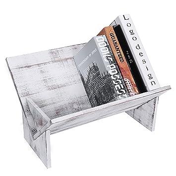 Estantería de escritorio para libros inclinada hecha de madera ...