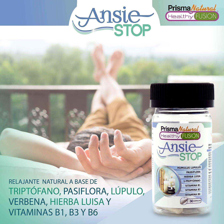 ANSIESTOP - Combate los síntomas de la ansiedad y el estrés – Acaba con el nerviosismo y facilita el descanso – Propiedades Relajantes Naturales – ...
