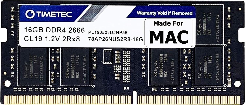Timetec 16GB Compatible for Apple DDR4 2666MHz for Mid 2020 iMac (20,1 / 20,2) / Mid 2019 iMac (19,1) 27-inch w/Retina 5K Display, Late 2018 Mac Mini (8,1) PC4-21333 / PC4-21300 SODIMM MAC RAM Upgrade