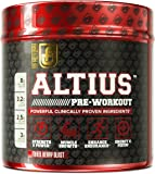 ALTIUS Pre-Workout Supplement - Naturally Sweetened - Clinically Dosed Powerhouse Formulation - Increase Energy & Focus, Enhance Endurance - Boost Strength, Pumps, & Performance - Mixed Berry Blast (14.3 OZ)