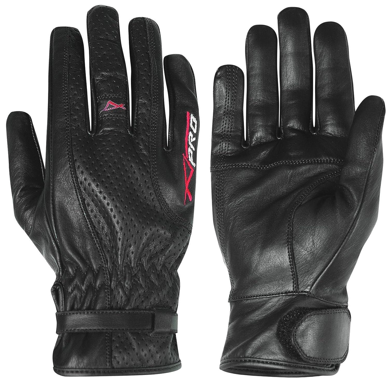 A-Pro Urban Sport Motorcycle Motor Bike Scooter Leather Gloves Cruiser Summer Black M