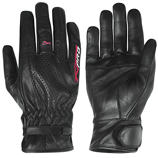 "15 opinioni per A-Pro- guanti da moto di pelle ""Cruiser Summer Black"", taglia L"