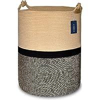"""COMSE Large Blanket Basket, Tall Storage Basket,15.7""""x 21.7"""", Large Laundry Basket, Tall Basket, Rope basket, XXXL…"""