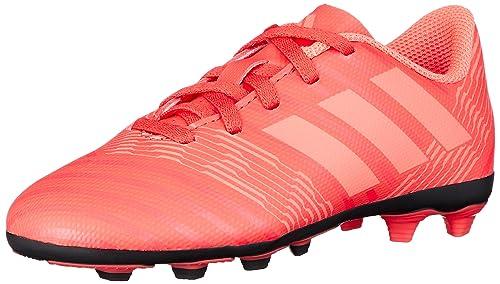 4864a5cbfc50 adidas Unisex Kids' Nemeziz 17.4 FxG Footbal Shoes, Red Reacor/Redzes/Cblack