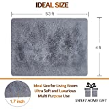 Noahas Super Soft Modern Shag Grey Area Rugs Fluffy