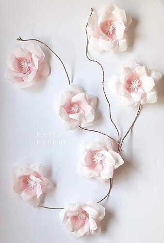 Amazon Com Sweet Paper Magnolia Decor Nursery Wall Paper Flower