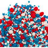 Sweets Indeed Candy Sprinkles | Patriotic Candyfetti | 8oz Jar | Red White & Blue | MADE IN THE USA! | Edible Confetti