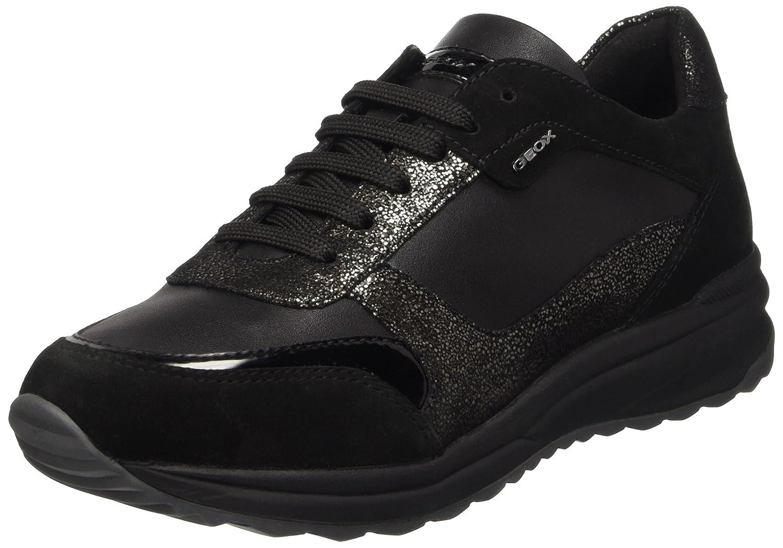 Geox D Airell C, Zapatillas para Mujer 40 EU Negro (Blackc9999)