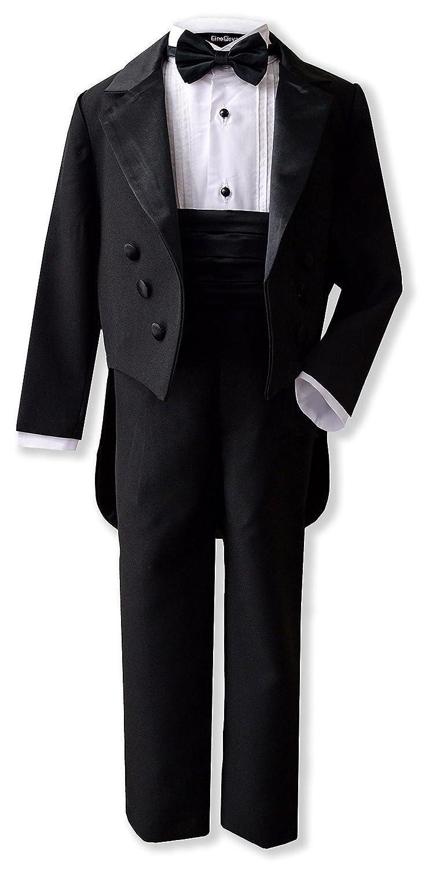 269569758f4 Amazon.com  Gino Giovanni New Ring Bearer Boys Black Tuxedo Tail Set From  Baby to Teen  Clothing