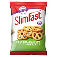 SlimFast Sour Cream Pretzel Snack Bag, 12 x 23 g