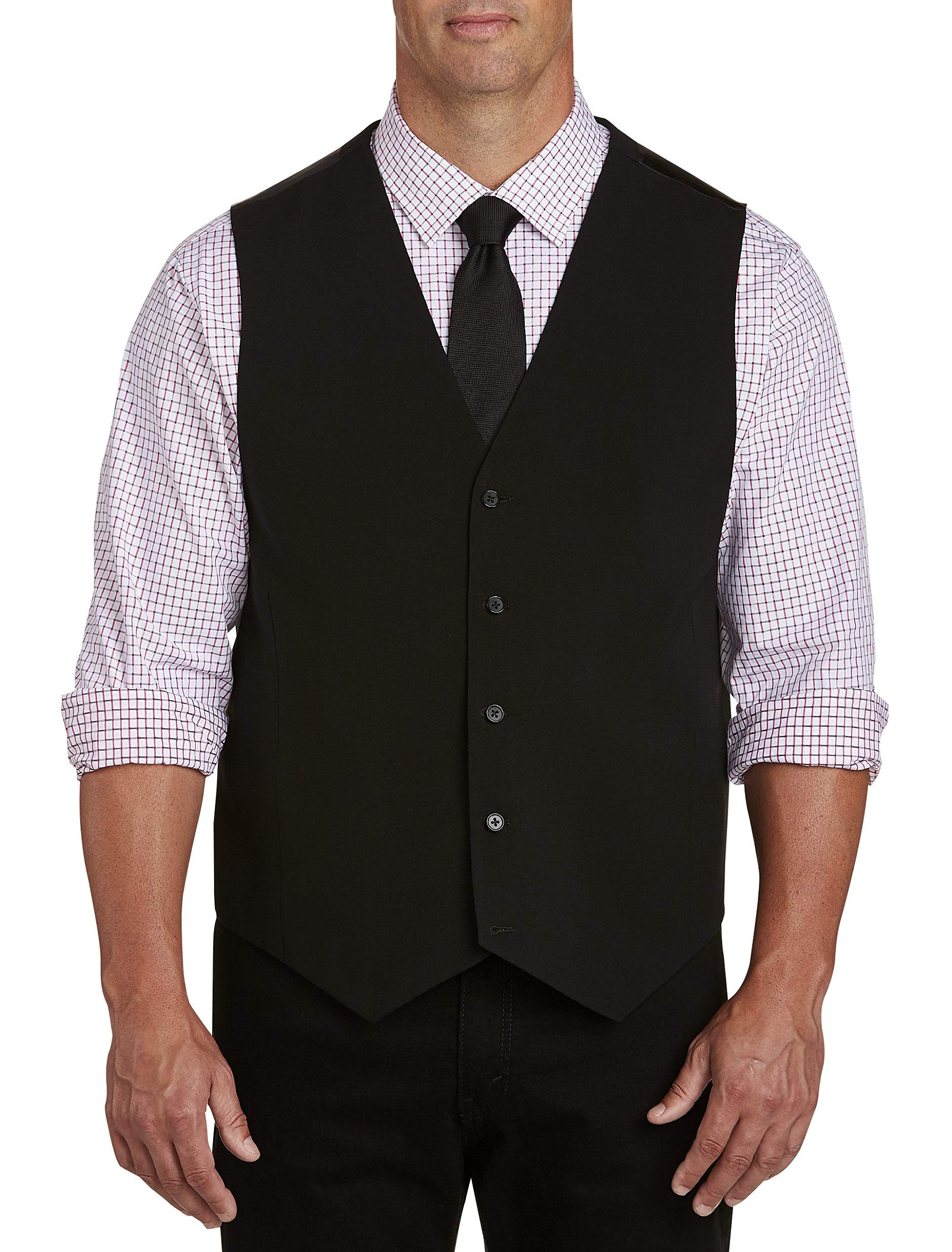 Synrgy by DXL Big and Tall Vest Black by Unknown